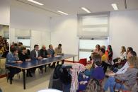 El delegado de Educación, Diego Pérez en la reunión informativa sobre el CEIP Imaginalia