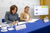 La consejera de Economía, Empresas y Empleo, Patricia Franco, firma dos convenios con la Escuela de Organización Industrial y presenta los programas formativos #SoyDigital y Millennials y Big Dreams.