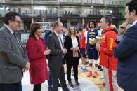 La directora general de Juventud y Deportes, Noelia Pérez, asiste a varios actos organizados por el Ayuntamiento de Guadalajara con motivo de la presencia de la selección española de Baloncesto en esta ciudad