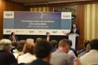 El consejero de Desarrollo Sostenible presenta la jornada 'Tecnología para un territorio más sostenible'