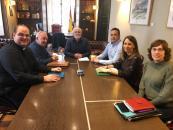 Reunión Gobierno regional, Ayuntamiento de Alcaraz y párrocos de la Diócesis en este pueblo alcaraceño