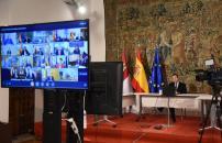 Videoconferencia de presidentes autonómicos convocada por el presidente del Gobierno de España para abordar el problema del coronavirus