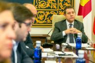 El jefe del Ejecutivo regional, Emiliano García-Page participa en la videoconferencia de presidentes autonómicos convocada por el presidente del Gobierno de España, Pedro Sánchez