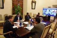 Rueda de prensa de la videoconferencia con representantes de industrias agroalimentarias de la región
