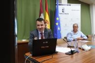 El consejero de Agricultura, Agua y Desarrollo rural y presidente de la Fundación Dieta Mediterránea preside, por videoconferencia, la reunión del patronato de la Fundación
