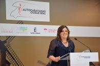 La consejera de Economía, Empresas y Empleo, Patricia Franco, presenta el proyecto de instalación de áreas de autocaravanas en Ciudad Real