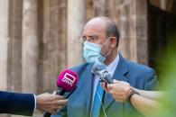 Declaraciones del vicepresidente del Gobierno de Castilla-La Mancha, José Luis Martínez Guijarro, en San Millán de la Cogolla