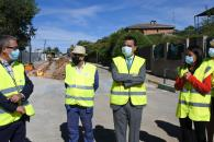 El consejero de Agricultura, Agua y Desarrollo Rural, Francisco Martínez Arroyo, visita las obras de emergencia que se realizan en el sistema de la Campiña Baja.