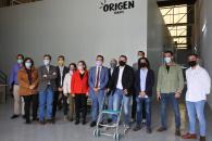 El consejero de Agricultura, Agua y Desarrollo Rural, Francisco Martínez Arroyo, visita la empresa Origen Farms, un proyecto de innovación consistente en una granja de grillos para consumo humano