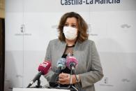 La consejera de Economía, Empresas y Empleo, Patricia Franco, preside la primera reunión de la mesa del Eje 1 del Pacto por la Reactivación Económica y el Empleo de Castilla-La Mancha.