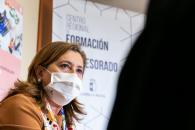 La consejera de Educación, Cultura y Deportes, Rosa Ana Rodríguez, presenta el Plan de Formación para el curso 2020-21 del Centro Regional de Formación del Profesorado.