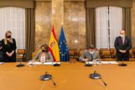 Reunión la vicepresidenta cuarta y ministra ministra para la Transición Ecológica y el Reto Demográfico, Teresa Ribera