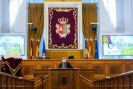 Acto de conmemoración de los 42 años de la Constitución Española en las Cortes de Castilla-La Mancha.