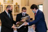 Reunión con presidentes de Aragón y Castiilla y León en Talavera de la Reina (Toledo)