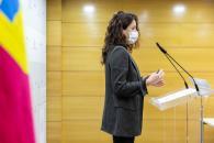 La viceconsejera de Empleo, Diálogo Social y Bienestar Laboral, Nuria Chust, comparece en rueda de prensa para analizar los datos del paro