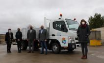 Visita al nuevo camión de recogida de residuos de Munera