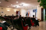 El consejero de Fomento, Nacho Hernando, informa sobre las alegaciones que el Gobierno regional ha presentado al estudio informativo de la línea de Alta Velocidad Madrid-Extremadura en el tramo Madrid-Oropesa