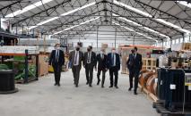 El vicepresidente de Castilla-La Mancha visita la sede central de la empresa Eiffage Energía