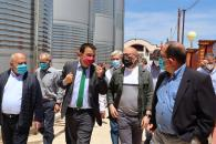 El consejero de Agricultura, Agua y Desarrollo Rural visita las instalaciones de Bodegas San Dionisio