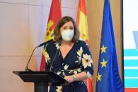 La consejera de Economía, Empresas y Empleo, Patricia Franco, presenta el recorrido de La Vuelta 2021 a su paso por la región.