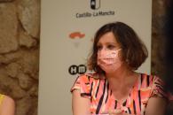 La consejera de Economía, Empresas y Empleo, Patricia Franco, participa en la mesa redonda 'Tejiendo Saberes' sobre artesanía que se celebra en la Feria 'XTANT 2021'.
