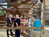 El Gobierno regional supervisa la rehabilitación de las fachadas de la Residencia de Mayores Virgen del Prado, de Talavera de la Reina