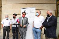 El consejero de Agricultura, Agua y Desarrollo Rural, Francisco Martínez Arroyo, se reúne con los representantes de las organizaciones profesionales agrarias y Cooperativas Agroalimentarias de Castilla-La Mancha