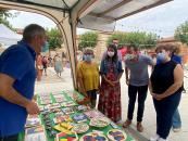 El consejero de Desarrollo Sostenible, José Luis Escudero, y la consejera de Bienestar Social, Bárbara García Torijano, asisten a la inauguración de la Feria 'Eco Torrejón 2021'