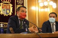 El consejero de Agricultura, Agua y Desarrollo Rural, Francisco Martínez Arroyo, se reúne con el presidente de la Diputación de Cuenca, Álvaro Martínez Chana