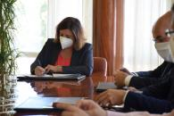 La consejera de Economía, Empresas y Empleo, Patricia Franco, se reúne con los responsables de Grupo Miguel Bellido