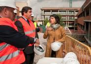 Echániz visita las obras del Hospital General Universitario de Guadalajara (2)