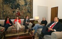 Reunión del Presidente Page con responsables reegionales de CCOO.