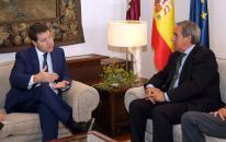 Reunión con el presidente de la Confederación Regional de Empresarios (CECAM)
