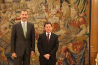 Recepción del Rey Felipe VI al Presidente Page en el Palacio de la Zarzuela