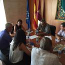 Reunión de Reyes Estévez con sindicatos representantes del profesorado