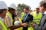 Visita del presidente García-Page a las obras de la nueva Facultad de Farmacia de la ciudad de Albacete