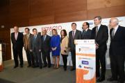El presidente de CLM, Emiliano García-Page, asiste al desayuno informativo 'Espacio Reservado' de la alcaldesa de Toledo, Milagros Tolón