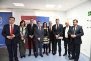El presidente de Castilla-La Mancha, Emiliano García-Page, inaugura el nuevo vivero de empresas de Madridejos
