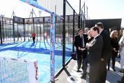 El presidente García Page en la inauguración del nuevo centro deportivo Ice Raket