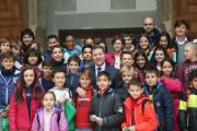 Page recibe a alumnos del Colegio Santa Teresa de Toledo