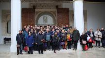 El presidente de Castilla-La Mancha, Emiliano García-Page, ha recibido hoy, en el Palacio de Fuensalida, al Centro de Mayores de Azuqueca de Henares