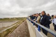 El presidente de Castilla-La Mancha, Emiliano García-Page, realiza, una visita a las zonas del sureste de Albacete afectadas por el temporal