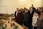 Inauguración del tradicional belén del Palacio de Fuensalida elaborado por APANAS