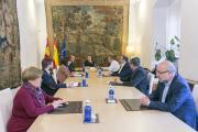 Reunión con miembros del gobierno para coordinar las medidas del decreto de estado de alarma