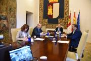 Videoconferencia con los representantes de los partidos políticos de las Cortes de Castilla-La Mancha