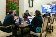 Videoconferencia con representantes de la patronal y de los sindicatos de la región