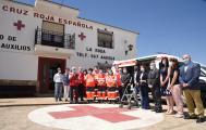 Visita al Puesto de Mando de Cruz Roja Española en La Roda