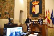 Videoconferencia con el ministro de Justicia