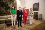 Emiliano García- Page recibe a la alcaldesa de Ciudad Real