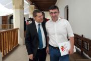 Reunión del Presidente García-Page con Daniel Martínez, de IU Castilla-La Mancha